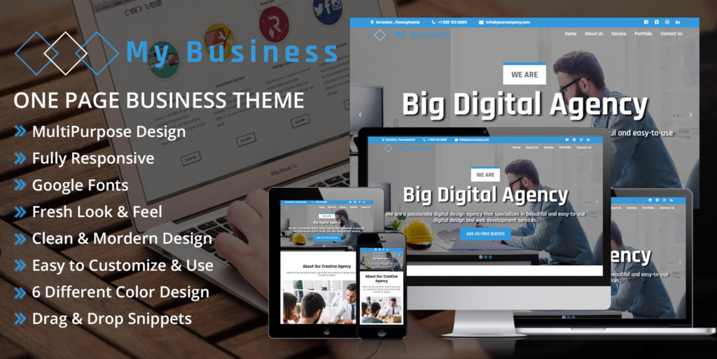 My Business – Odoo Theme