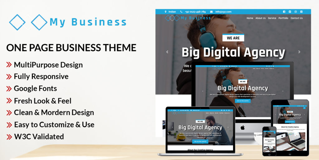 My Business – HTML Bootstrap Theme