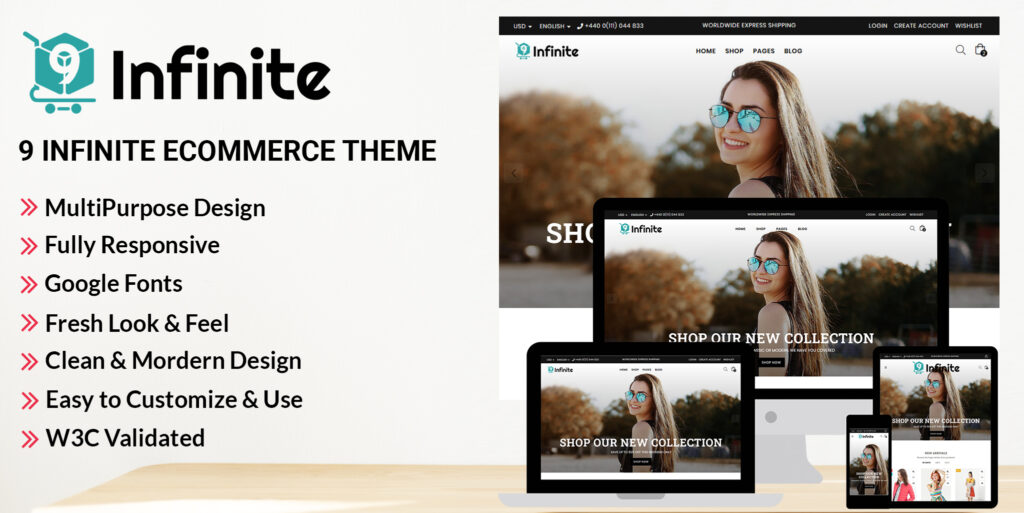 9Infinite – Responsive Multipurpose Ecommerce HTML Theme